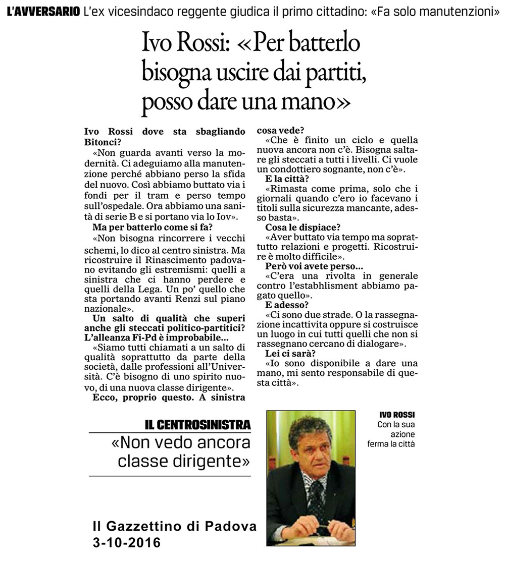Gazzettino intervista